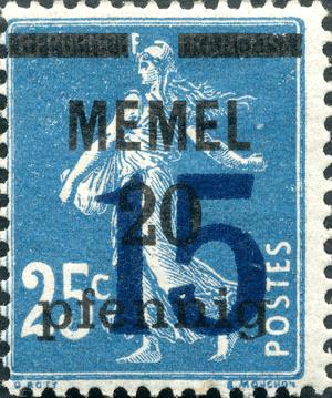 memel 15s20 pfennig
