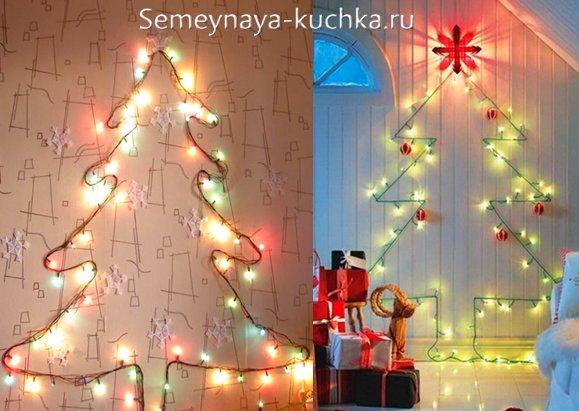 Joulukuusi seinällä