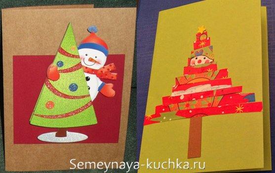 snowmen در کارت پستال سال نو