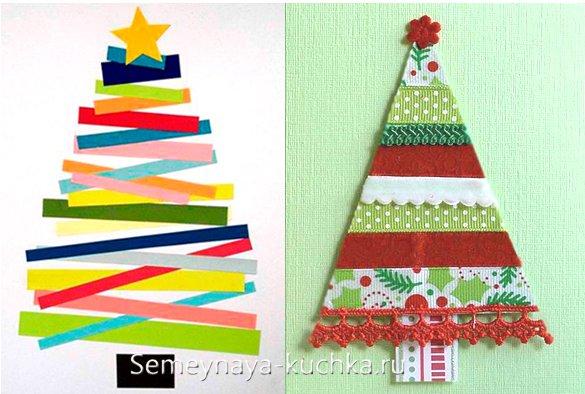 چگونه یک درخت کریسمس را در کارت پستال سال نو بسازیم