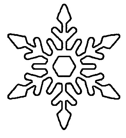 Snowflake Stencil از کاغذ برای سال جدید