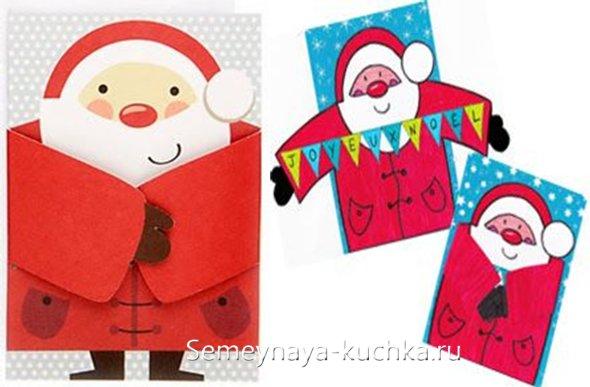 De la hârtie pentru Anul Nou Santa Claus