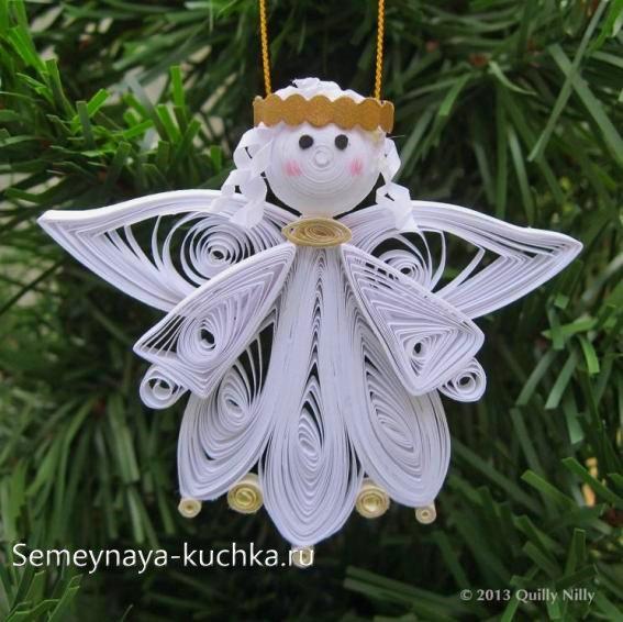 Angel pentru Anul Nou de la Hârtie