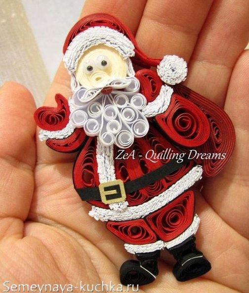 Santa Claus pentru Anul Nou de la Hârtie