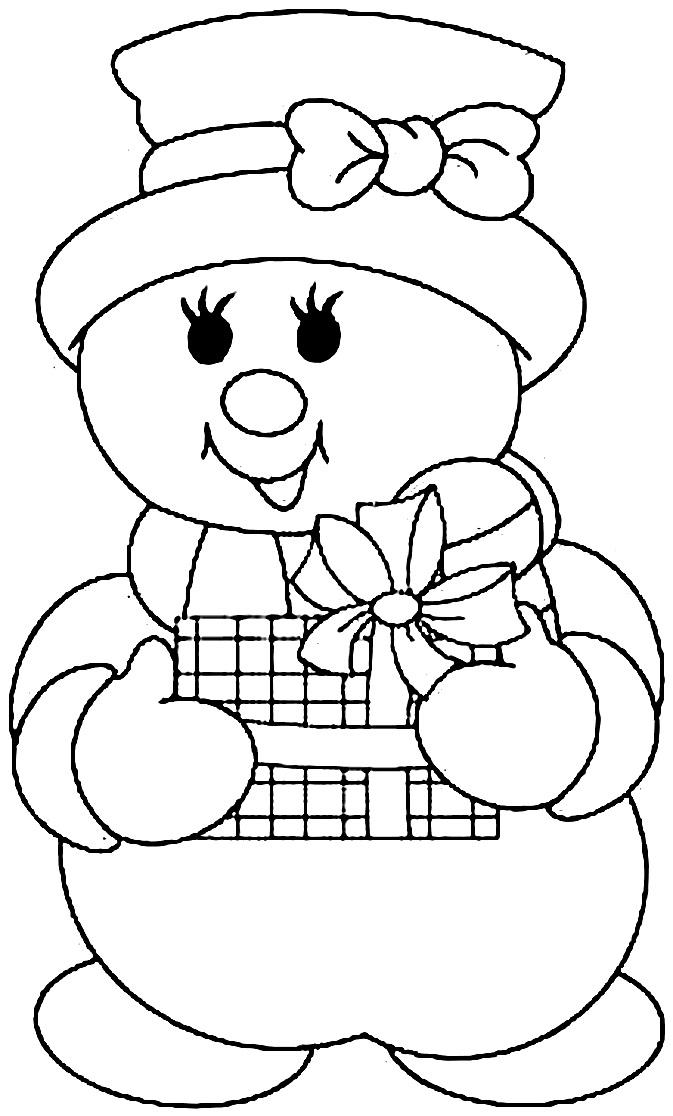 Картинка шаблон снеговик для вырезания