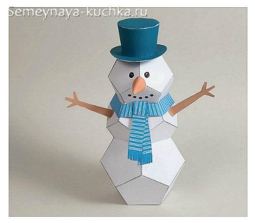 Người tuyết làm bằng giấy
