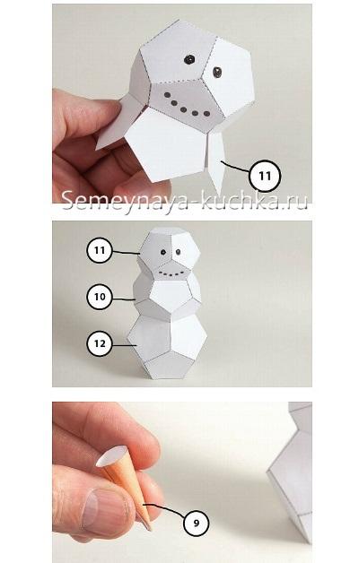 Sơ đồ lắp ráp giấy người tuyết