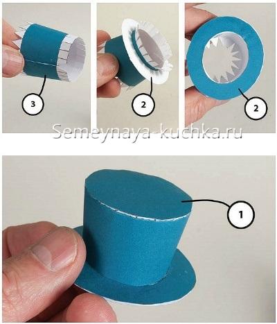 инструкция шапка для снеговика из бумаги