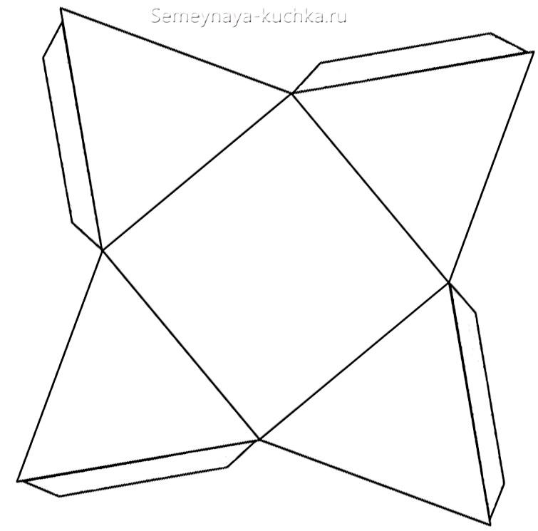 Қарапайым сноуборд Пирамиданың құрастыру схемасы