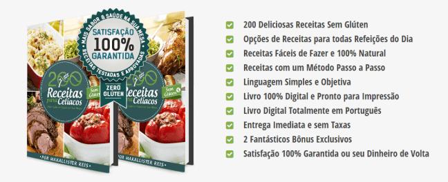 Vantagens e benefícios do Livro 200 Receitas para Celíacos