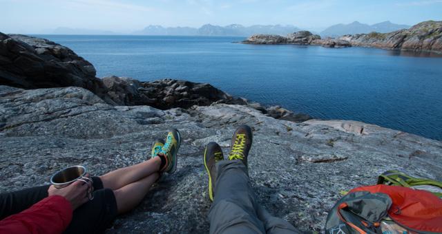 The Vasque View outside Henningsvaer in Norway's Lofoten Islands.