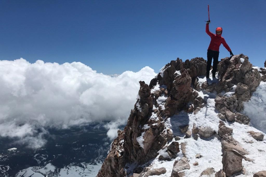 Abi on summit of mount shasta