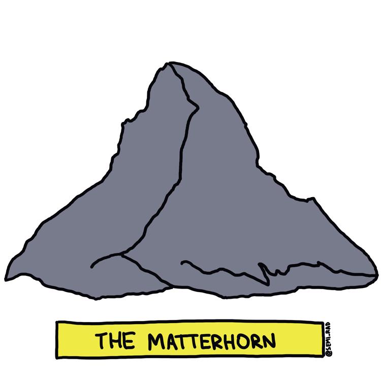 drawing of the matterhorn