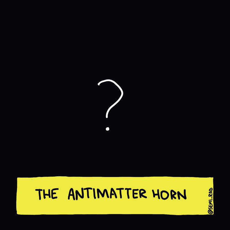 drawing of a question mark against a black background