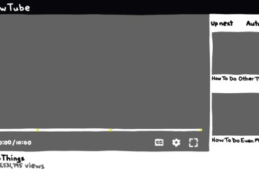 drawing of a blank youtube video