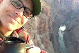 Adventure Journal founder and editor Steve Casimiro in the desert southwest