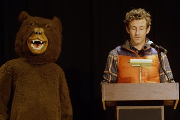 screen capture from Bears Don't Care About Your Problems: A dramatic reading + book trailer