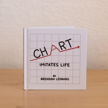 chart imitates life by brendan leonard, signed book