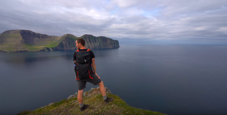 Screen capture from Hiking 60 Miles Alone in Hornstrandir Iceland