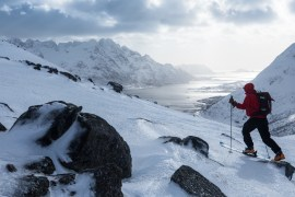 Tommy Penick photo of skier on Arctic Haute Route in Norway