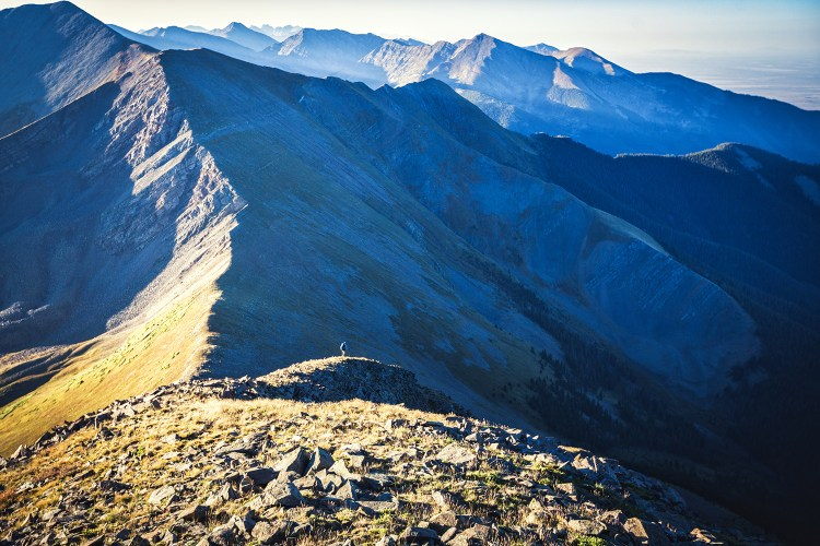 [jim harris photo] brendan leonard on the ridge of the sangre de cristo mountains
