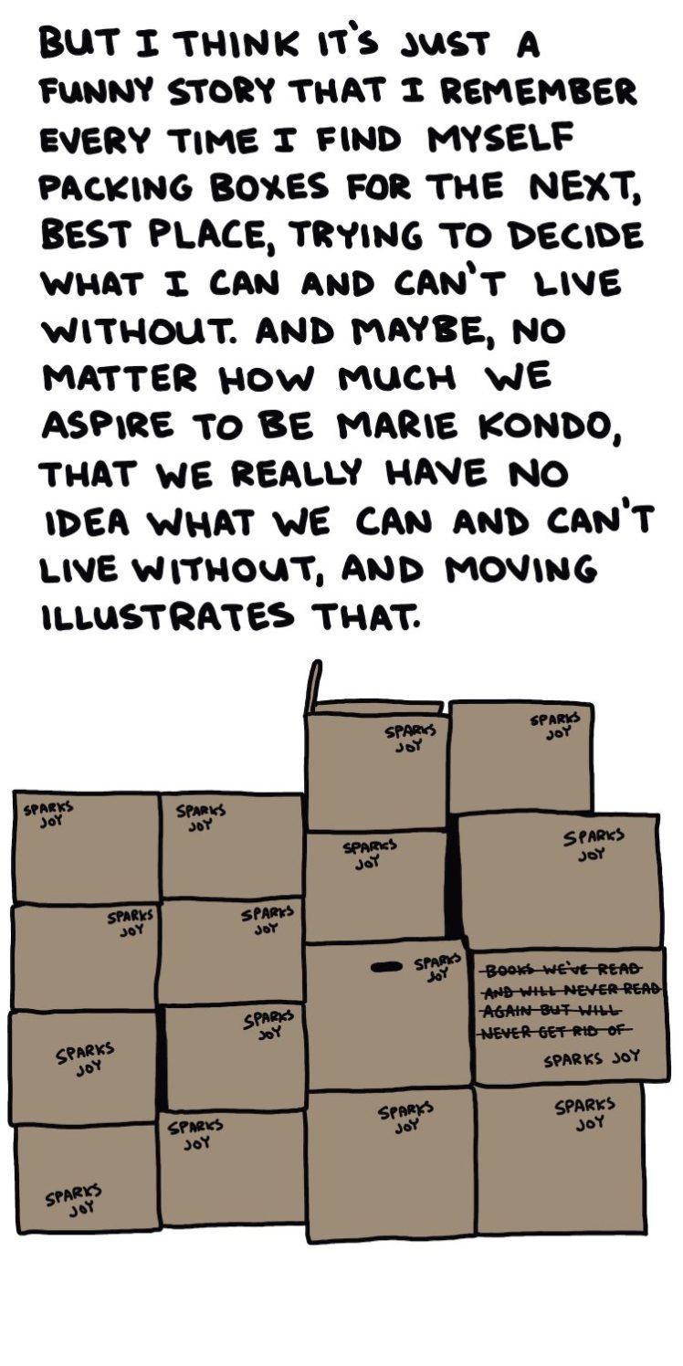 handwritten text and drawing of moving boxes