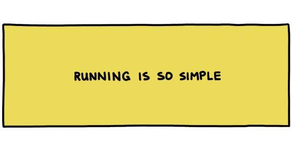 handwritten title box: running is so simple