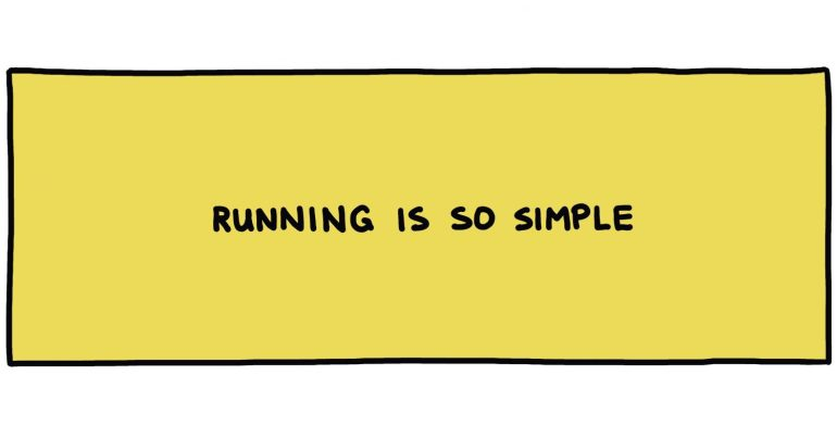 handwritten title box: running is so simple