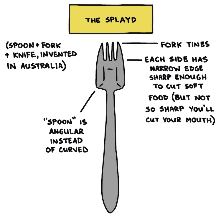 hand-drawn splayd with parts labeled