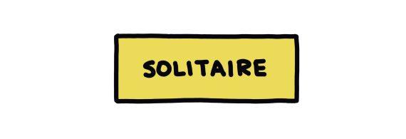 handwritten title: Solitaire