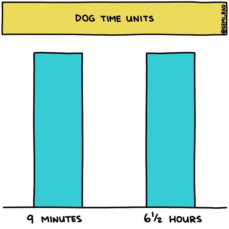 semi-rad chart: dog time units