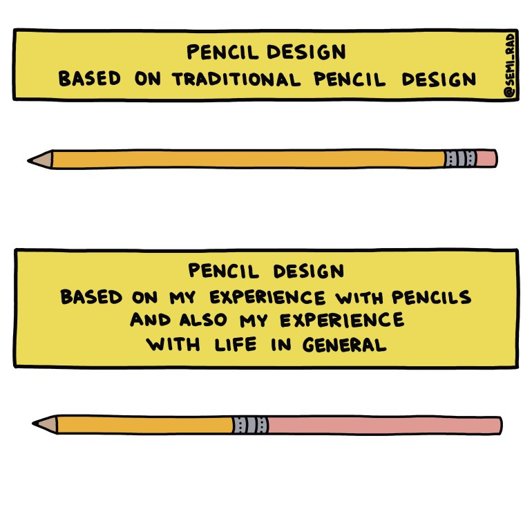 semi-rad chart pencil designs