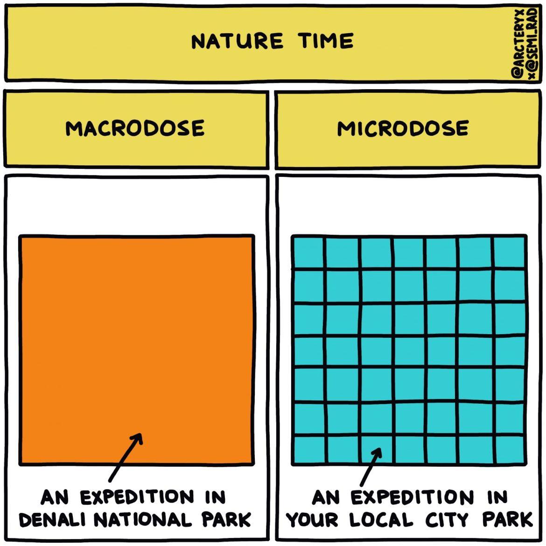 semi-rad chart: nature macrodose vs microdose expedition