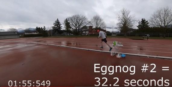 screen capture from Nog Jog is an Eggnog Miler