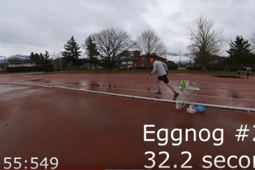 screen capture from Nog Jog is an Eggnog Miler