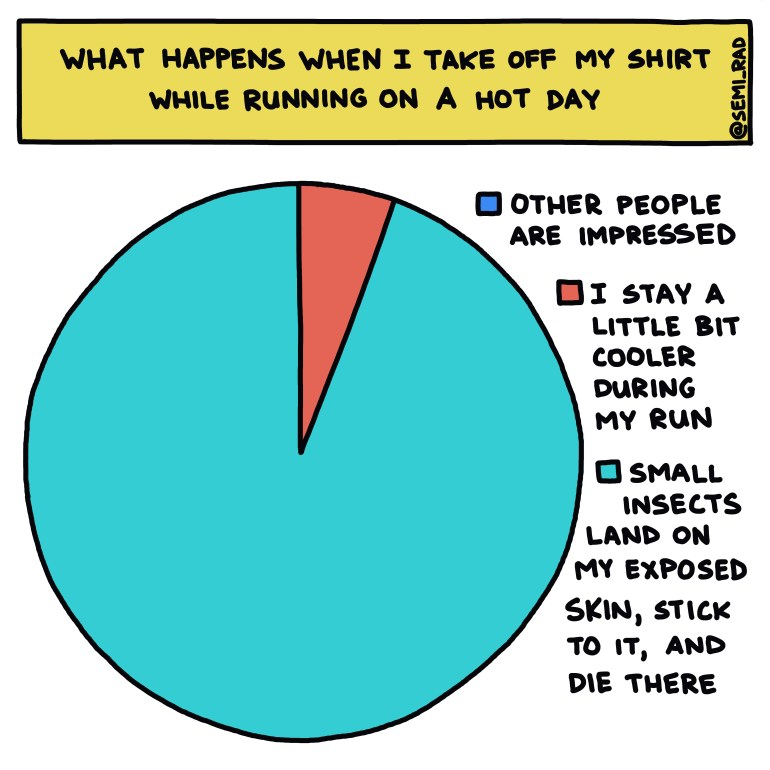 semi-rad chart: What Happens When I Take Off My Shirt While Running On A Hot Day