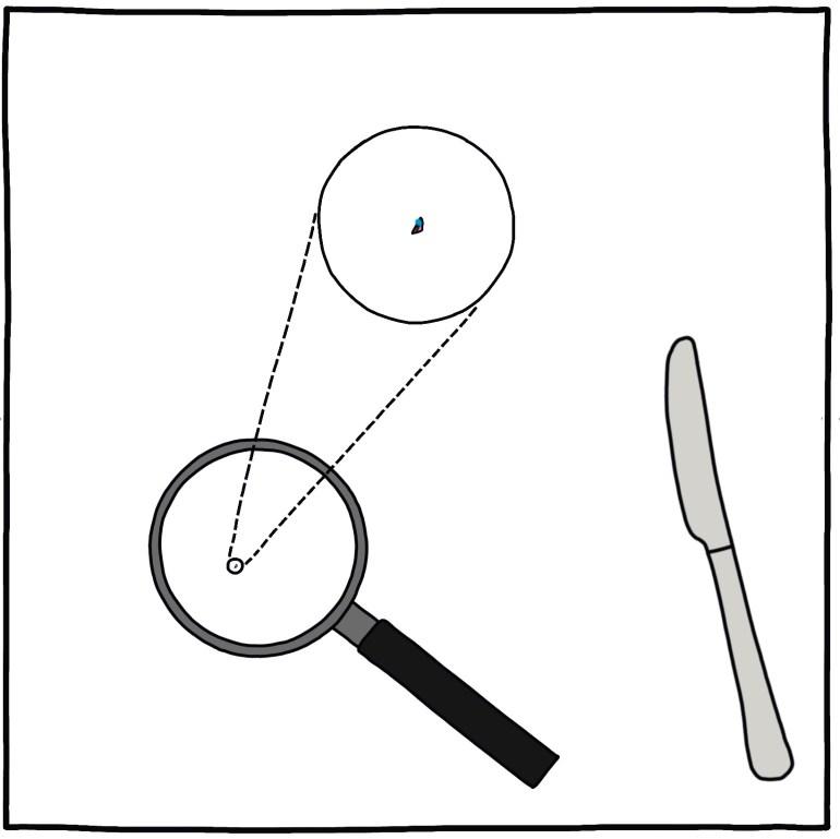 semi-rad illustration - the last doughnut in the office 8