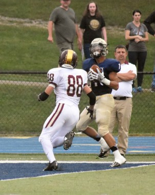 Cam Cooper scores the first touchdown on the night