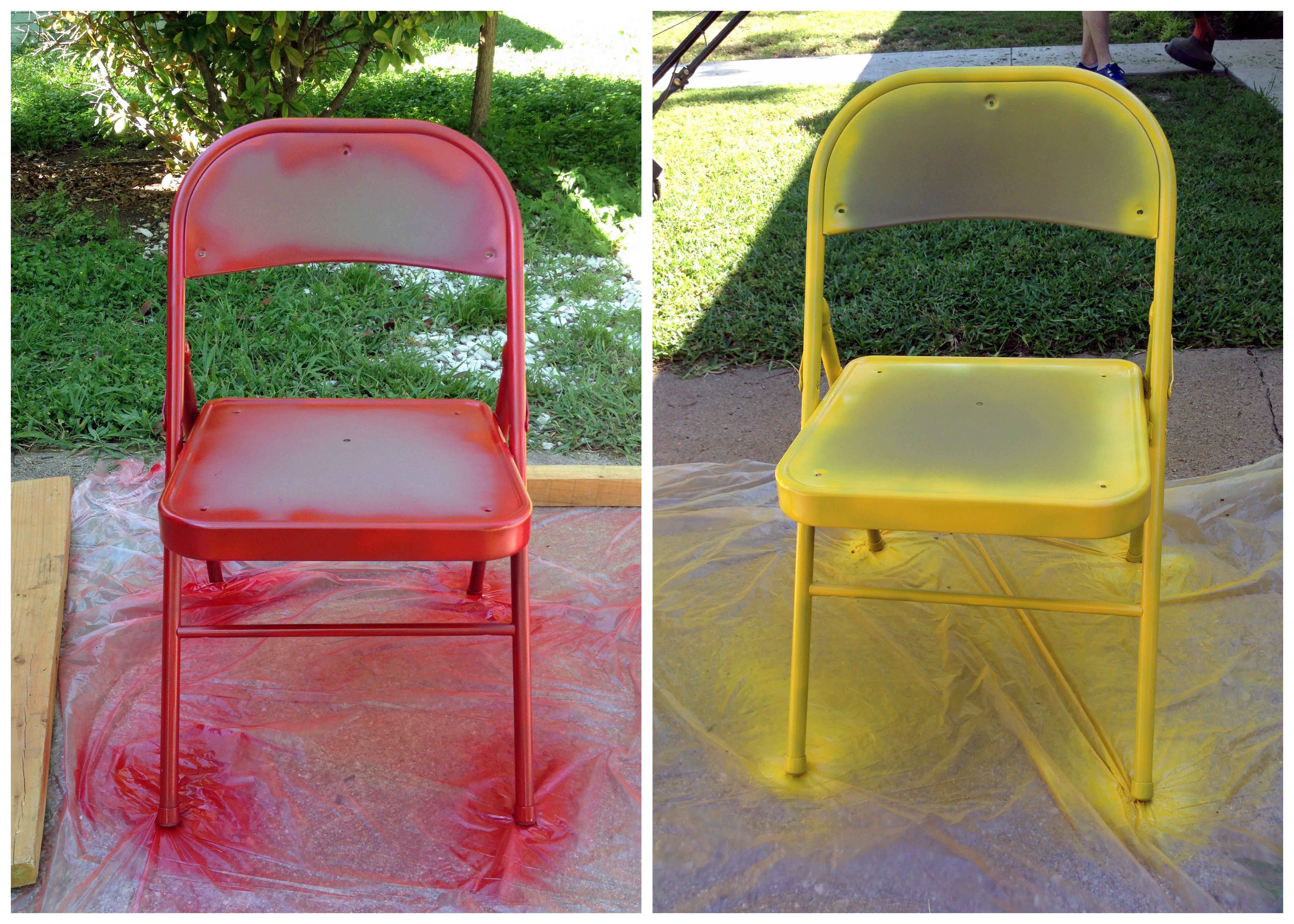 diy folding chair covers fold up camping chairs painted semi