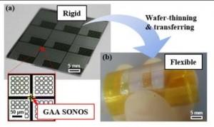 Photo of a GAA SONOS FETs on an SOI wafer. (Source: KAIST)