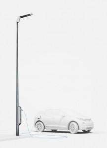Street light EV charging station (Source: BMW)