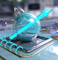 Vision of a future quantum computer with chips made of diamond and graphene. (Source: NIM)