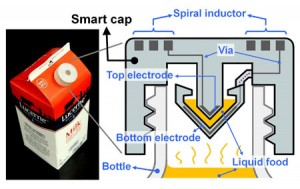 UC Berkeley engineers created a smart cap using 3D-printed plastic.(Photo and schematic by Sung-Yueh Wu)