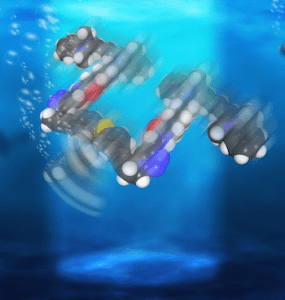 Rice has created light-driven, single-molecule submersibles that contain just 244 atoms. (Illustration by Loïc Samuel)