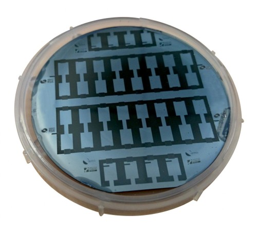 A silicon wafer containing 40 micro-supercapacitors. (Source: C. Lethien/IEMN)