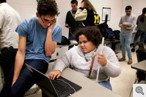India West discusses a project that is designed to teach coding to blind students with a computer science and engineering student Gabriel Pascualy who helped create it.  (Source: University of Michigan)