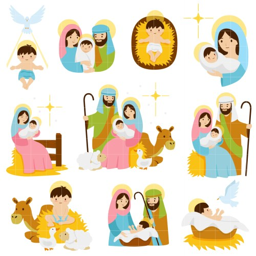 small resolution of nativity scenes set semi exclusive clip art set for digitizing and more
