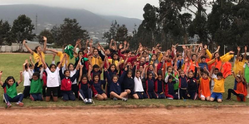 Estudiantes del Colegio participan en encuentro de mini atletismo