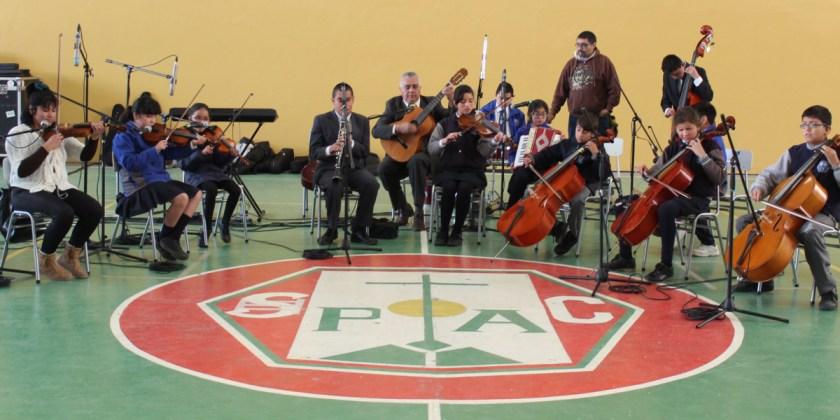 «Orquesta de Cámara Luis Braille» cierra semana de las artes en el Colegio