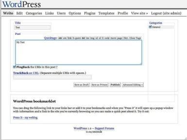 WordPress 1.2